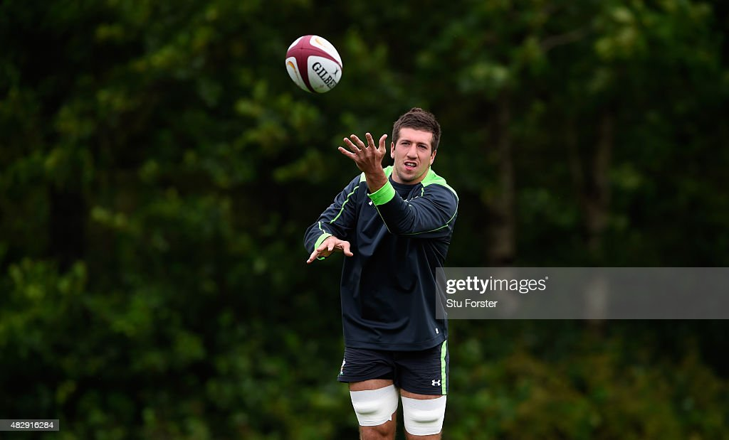 Wales player Justin Tipuric in action during Wales training ahead of saturdays World cup warm up match against Ireland at the Vale Hotel on August 4...