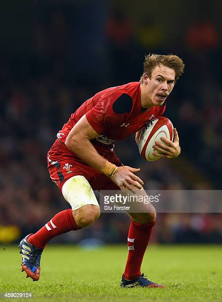 Wales player Liam Williams in action during the International match between Wales and Fiji at Millennium Stadium on November 15 2014 in Cardiff Wales
