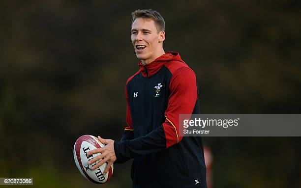 Wales player Liam Williams in action during Wales training in the lead up to the game against Australia at the Vale Hotel on November 3 2016 in...