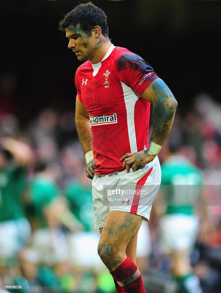 Wales player Mike Phillips looks on dejectedly during the RBS Six Nations game between Wales and Ireland at the Millennium Stadium in Cardiff, Wales.