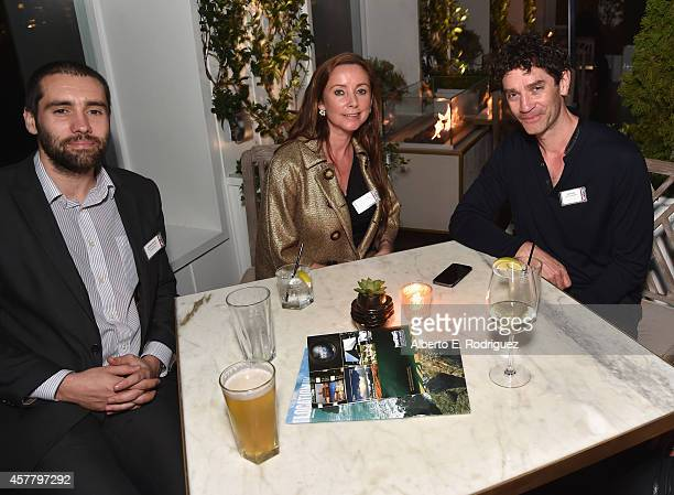 Wales Screen's Jonathan Moody Spring Management's Louisa Spring and actor James Frain attend a British Film Commission UK Film TV Week industry...