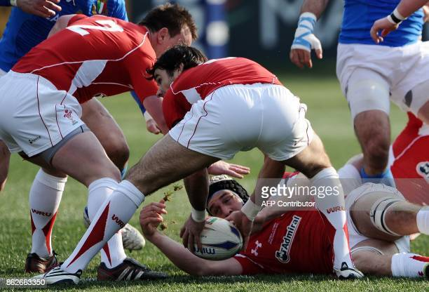 Wales' scrum half Mike Phillips in action during the Six Nations International rugby union match between Italy and Wales at the Flaminio stadium in...