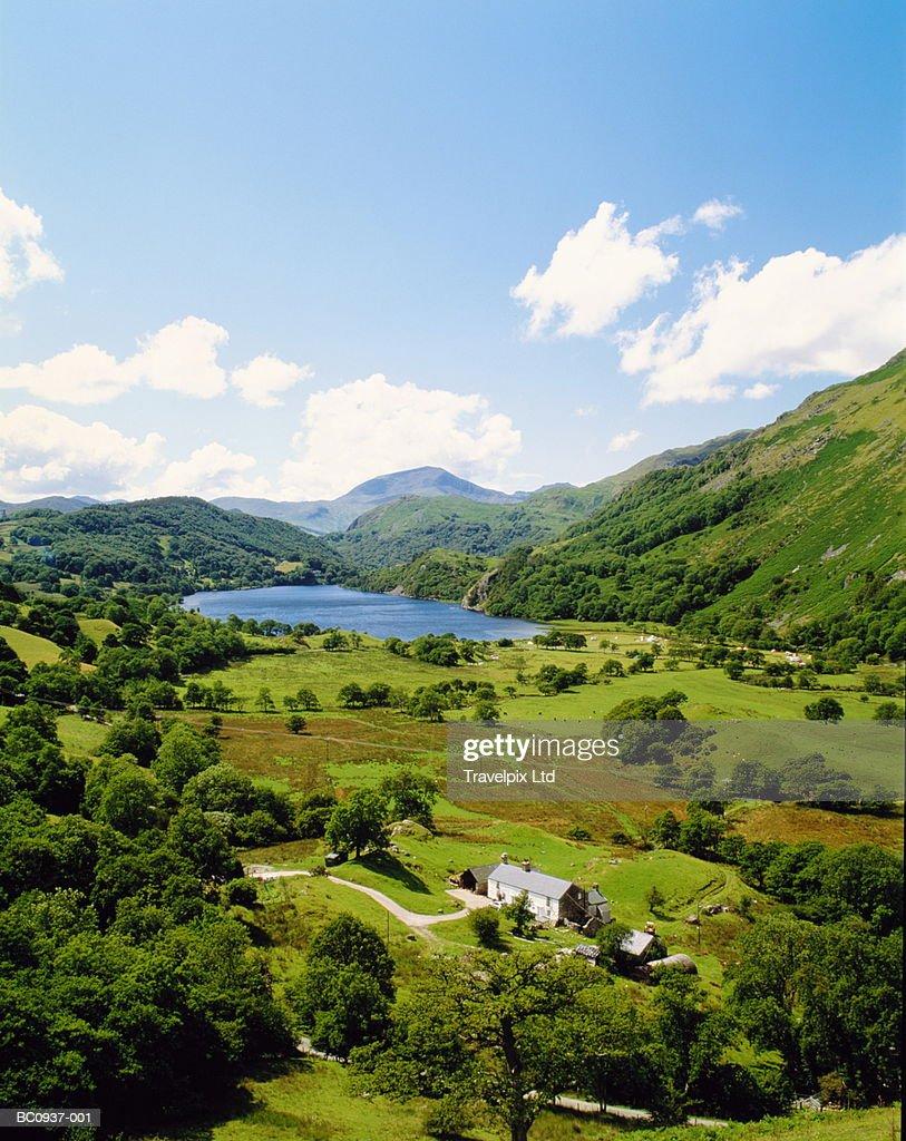 Wales, Snowdonia National Park, Nant Gwynant : Stock Photo