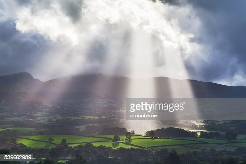 UK, Wales, Stormy day in Brecon Beacons