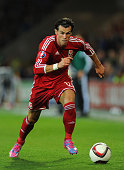 Wales striker Gareth Bale in action during the EURO 2016 Qualifier match between Wales and Bosnia and Herzegovina at Cardiff City Stadium on October...