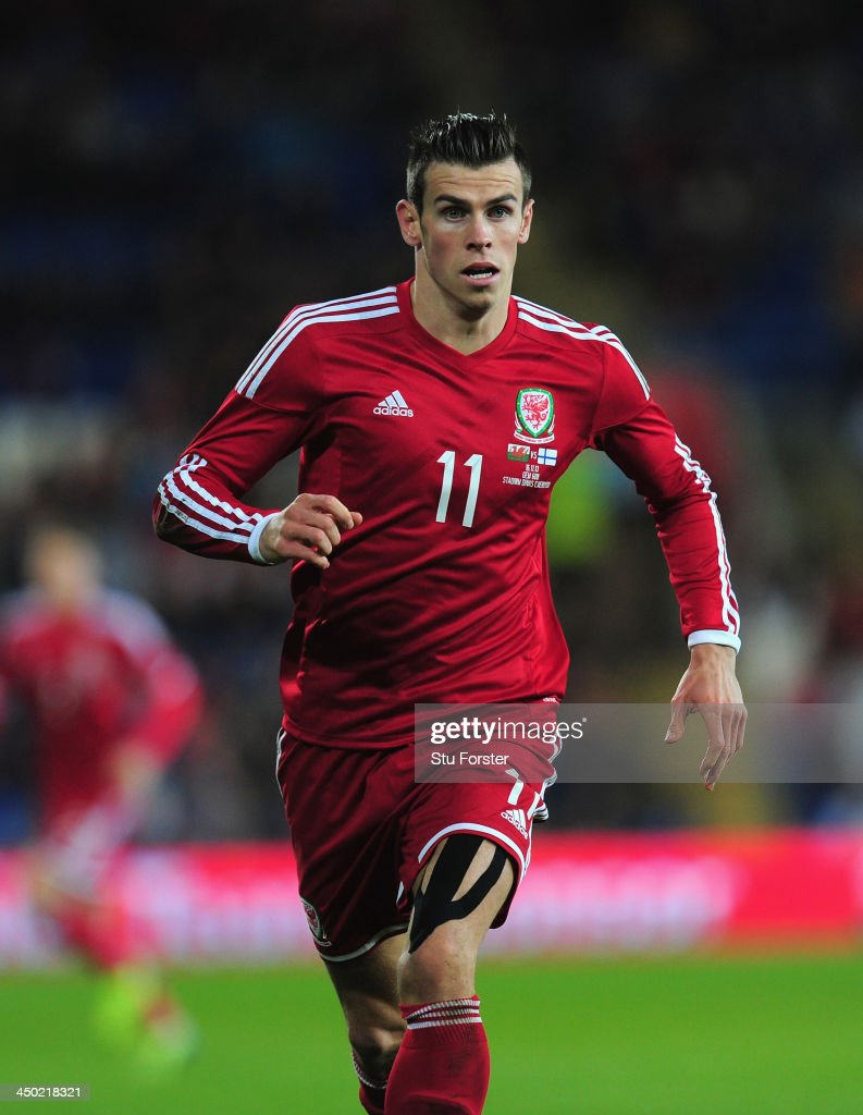 Wales striker Gareth Bale in action during the International Friendly match between Wales and Finland at Cardiff City Stadium on November 16, 2013 in Cardiff, Wales.