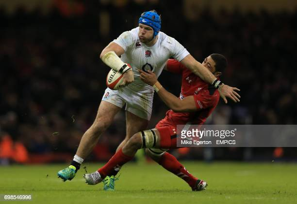 Wales' Taulupe Faletau and England's James Haskell