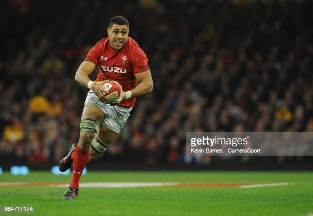 Wales' Taulupe Faletau during the 2017 Under Armour Series Autumn International match between Wales and South Africa at Principality Stadium on...