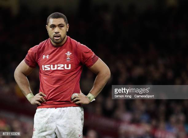 Wales' Taulupe Faletau during the 2017 Under Armour Series match between Wales and Australia at Principality Stadium on November 11 2017 in Cardiff...
