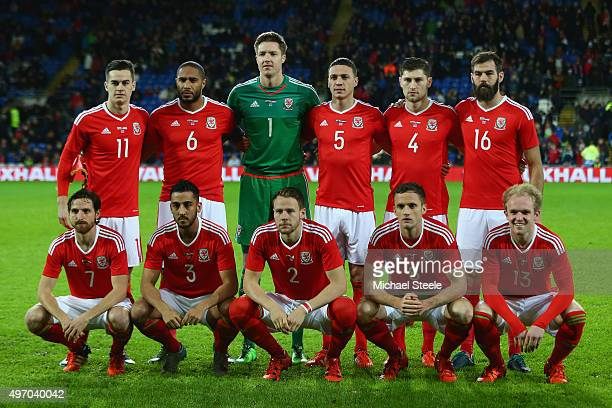 Wales team group ahead of the international friendly match between Wales and Netherlands at Cardiff City Stadium on November 13 2015 in Cardiff Wales