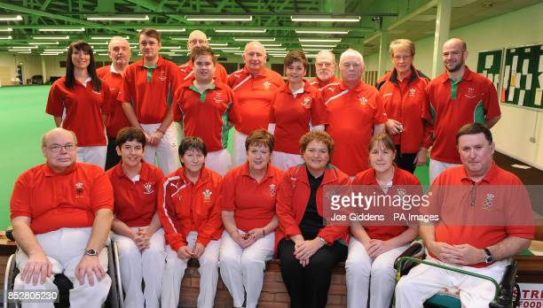 Wales team players and management Kevin Woolmore Lisa Forey Rosa Crean Hazel Wilson Anwen Butten and Dave Powell Kelly Packwood Alun Hodges Jonathan...