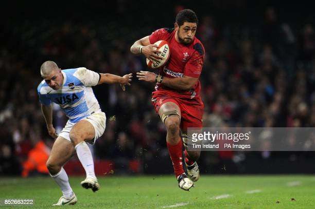 Wales' Toby Faletau during the Dove Men Series match at the Millennium Stadium Cardiff