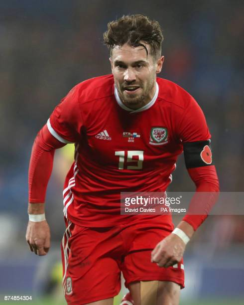 Wales Tom Bradshaw during the International Friendly match at the Cardiff City Stadium PRESS ASSOCIATION Photo Picture date Tuesday November 14 2017