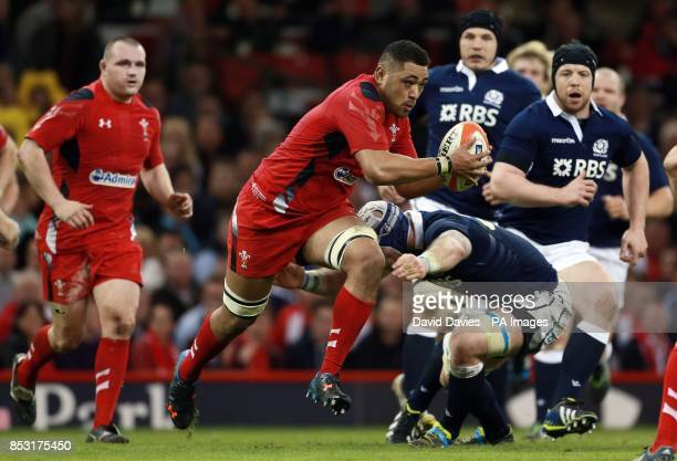Wales Tualupe Faletau during the RBS Six Nations match at the Millennium Stadium Cardiff