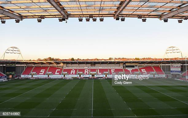 Wales United Kingdom 25 November 2016 A general view of Parc Y Scarlets ahead of the Guinness PRO12 Round 9 match between Scarlets and Leinster at...