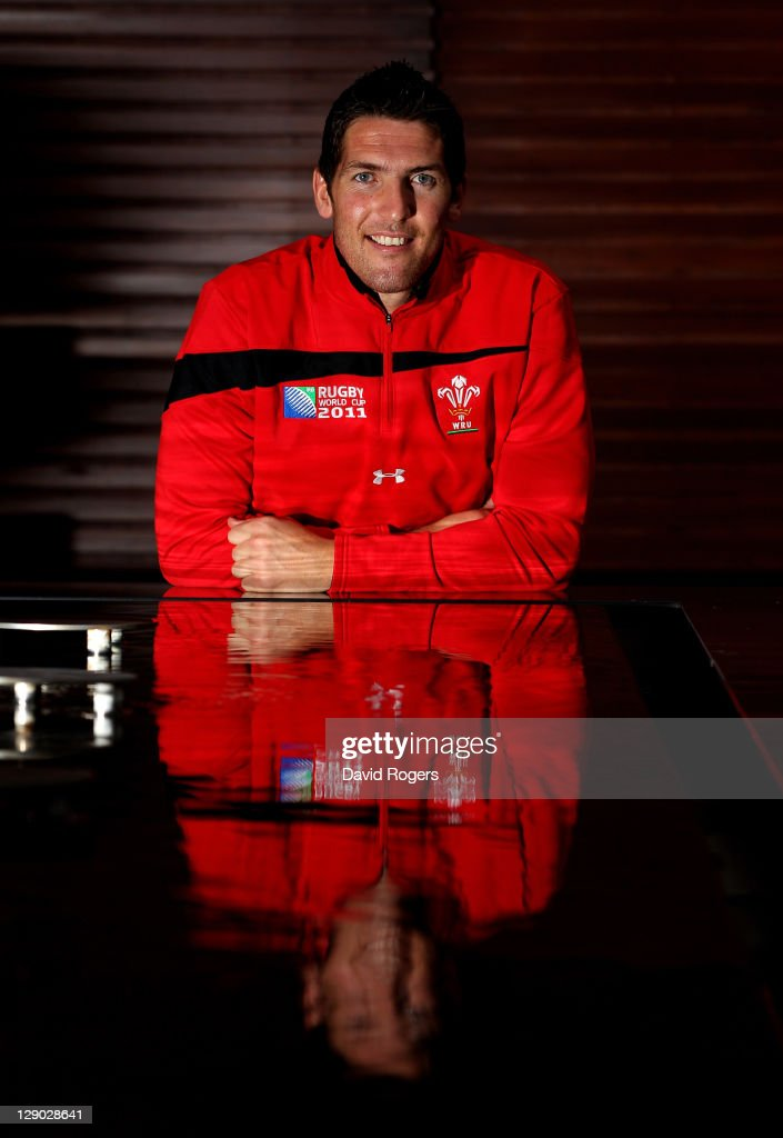 Wales Utility back James Hook poses during a Wales IRB Rugby World Cup 2011 media session at Sky City on October 11, 2011 in Auckland, New Zealand.