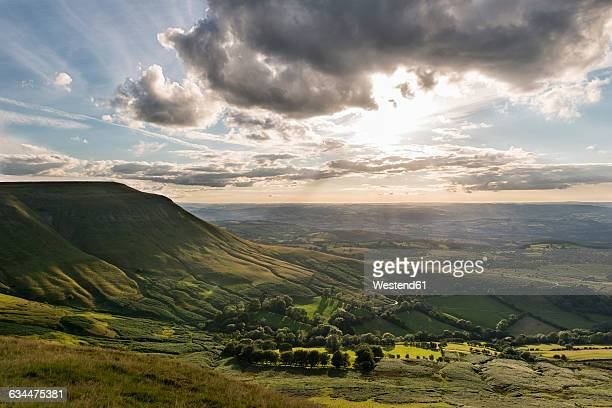 UK, Wales, View over Wye Valley at Brecon Beacons National Park