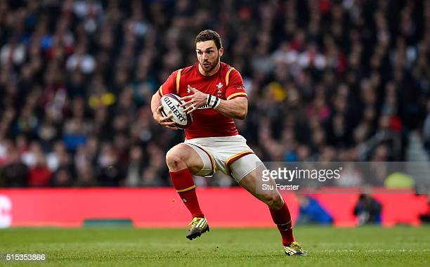 Wales wing George North in action during the RBS 6 Nations match between England and Wales at Twickenham Stadium on March 12 2016 in London England
