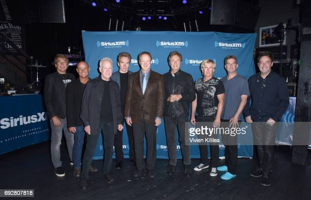 Walfredo Reyes Jr Tris Imboden James Pankow Ray Herrmann Lee Loughnane Robert Lamm Jeff Coffey Keith Howland and Lou Pardini of Chicago attend...