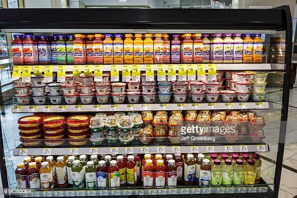 Walgreens pharmacy Chobani yogurt Sabra hummus snacks and fruit juice for sale