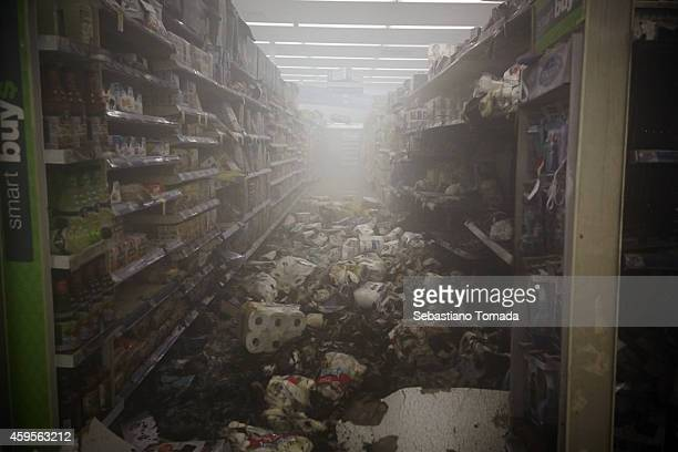 Walgreens store which was set on fire after protestors rioted following the grand jury announcement in the Michael Brown The St Louis County grand...