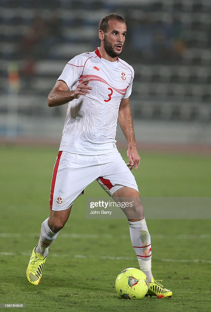 Walid Hichri of Tunisia in action during the international friendly game between Tunisia and Ethiopia at the Al Wakrah Stadium on January 7, 2013 in Doha, Qatar.