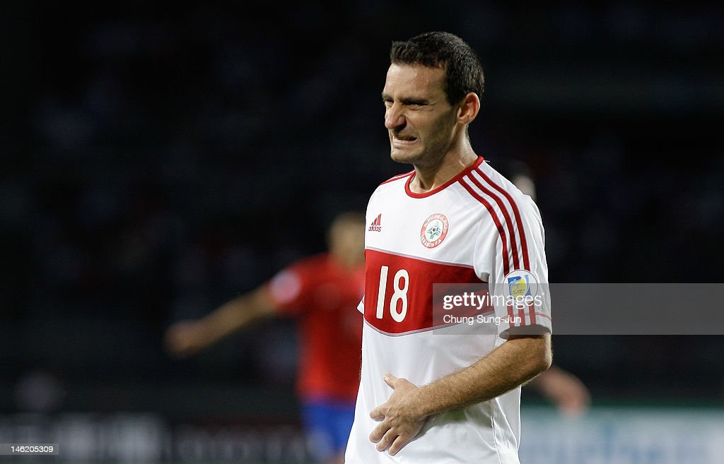 Walid Ismail of Lebanon reacts during the FIFA World Cup Asian Qualifier match between South Korea and Lebanon at Goyang Stadium on June 12, 2012 in Goyang, South Korea.