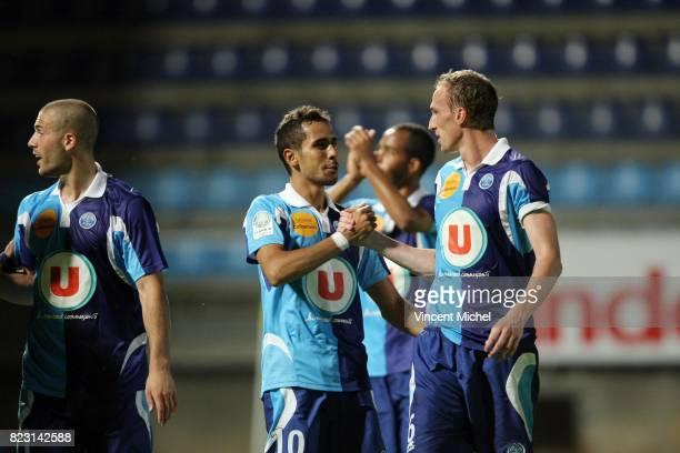 Walid MESLOUB et Julien FRANCOIS Le Havre / Bastia 4e journee de Ligue 2 Vincent Michel / Icon Sport