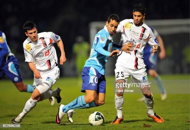 Walid MESLOUB / Kevin BRU Le Havre / Boulogne 27eme journee de Ligue 2