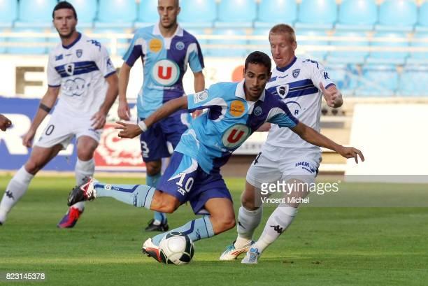 Walid MESLOUB / Mathieu ROBAIL Le Havre / Bastia 4e journee de Ligue 2 Vincent Michel / Icon Sport