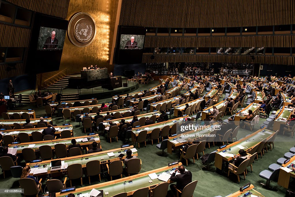 Walid Muallem Deputy Prime Minister of Syria addresses the United Nations General Assembly on October 2 2015 at UN Headquarters in New York City...