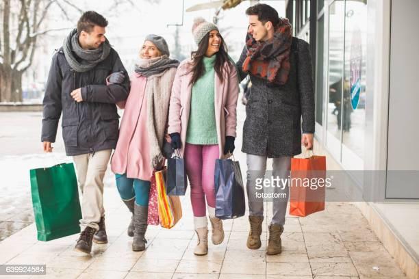 Walk after shopping