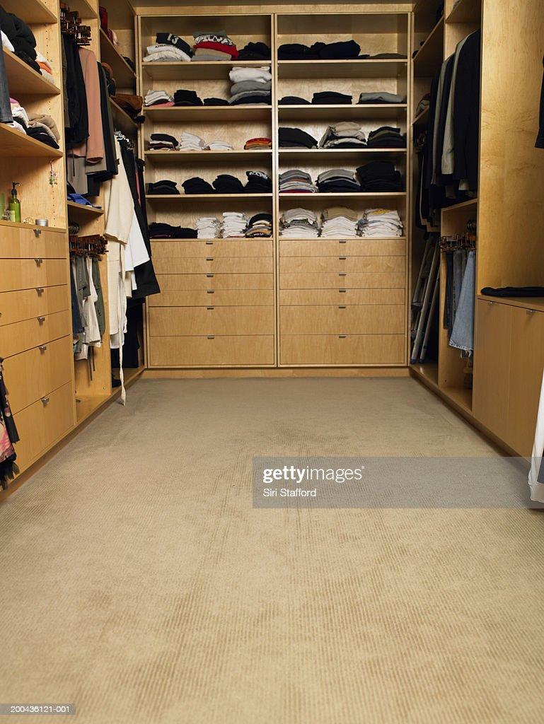 Walk in closet : Stock Photo