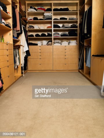 Walk in closet : Stockfoto