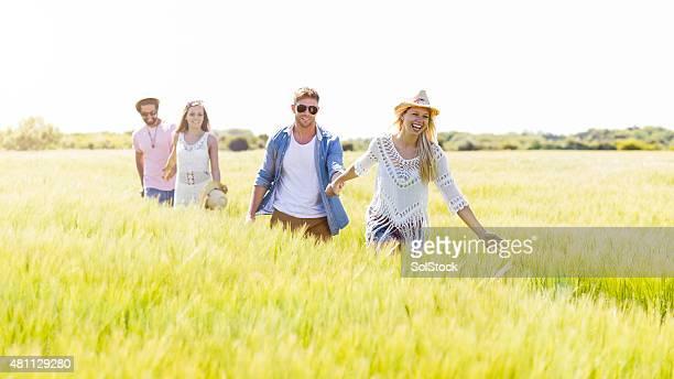Marcher dans la campagne