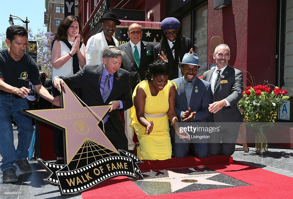 Walk of Fame assistant music executive Maureen Schultz jazz composer Marcus Miller Hollywood Chamber of Commerce president CEO Leron Gubler music...