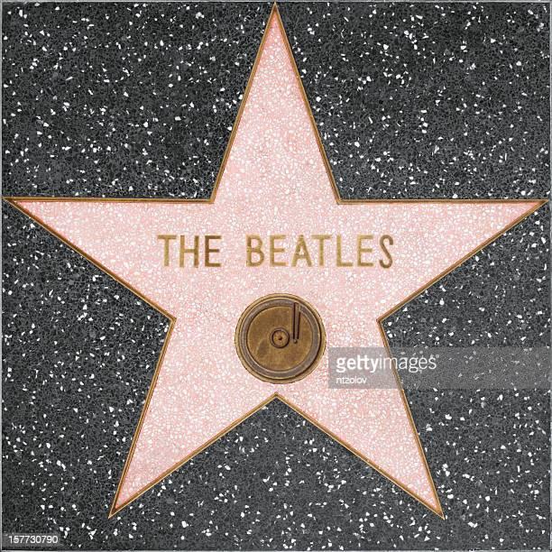 ハリウッドウォークオブフェイムの星をビートルズ