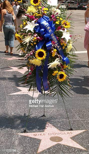 Walk of Fame Tribute in Memory of Mike Douglas during Mike Douglas Tribute August 11 2006 at 7001 Hollywood Blvd in Hollywood California United States