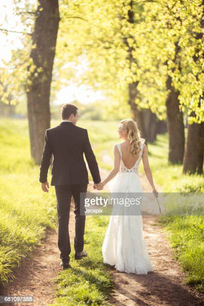 Walk of love in the nature