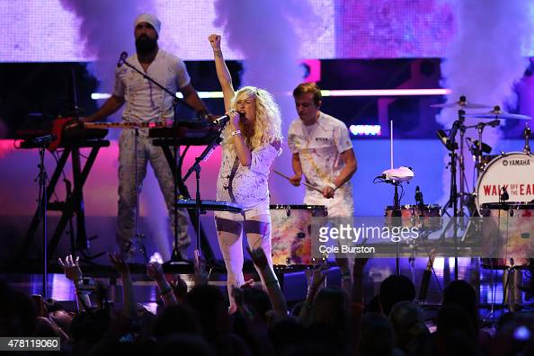 Walk off the Earth performs at the 2015 Much Music Video Awards at MuchMusic on Queen Street West in Toronto June 21 2015