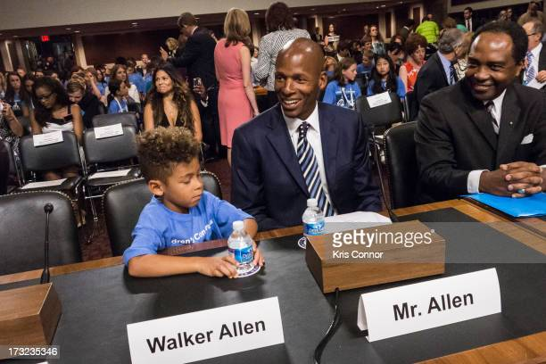 Walker Allen and Ray Allen testify during the 'Diabetes Research Reducing the Burden of Diabetes at all Ages' hearing at G50 Dirksen Building on July...