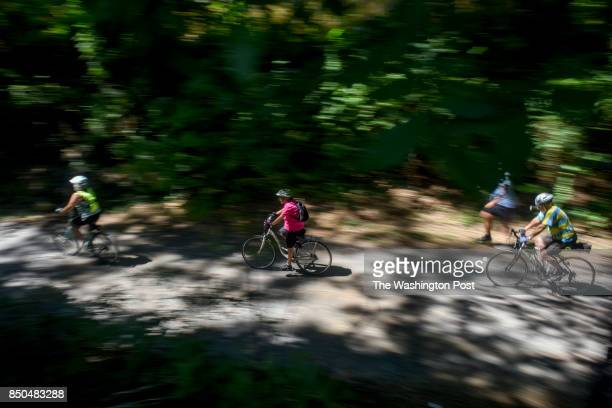 Walkers runners and bikers use the Capital Crescent Trail between Bethesda and Silver Spring the day before the trail closes on Monday September 4 in...