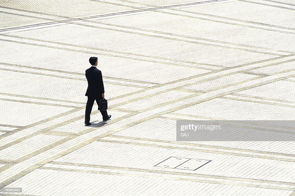 Walking businessman, high angle view, Tokyo, Japan : Stock Photo
