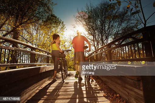Walking Couple Exercising for Healthy Living