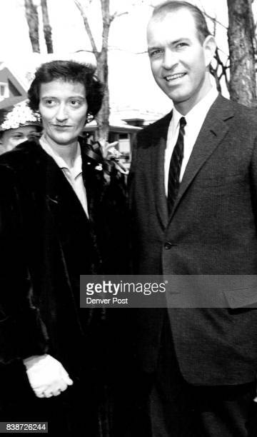 Walking home from church are Mr and Mrs Edward D White Jr She wore a smart chapeau of natural straw Credit Denver Post