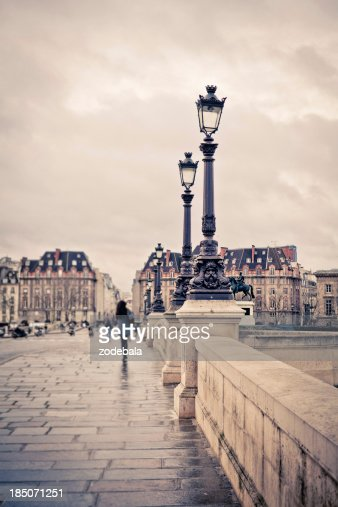 Walking in Pont Neuf, Paris, France