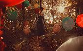 Walking in the balloon woods