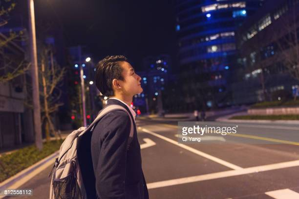 Walking in the street businessman
