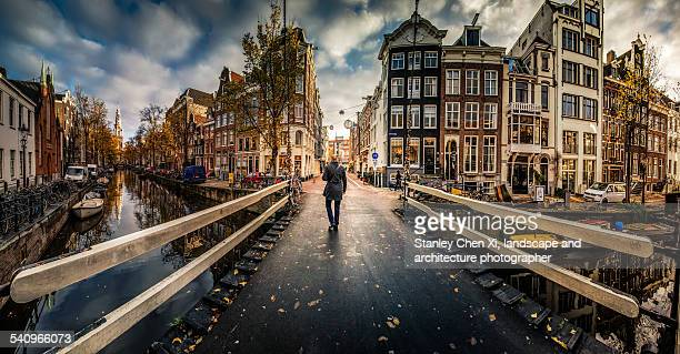 Walking into Amsterdam