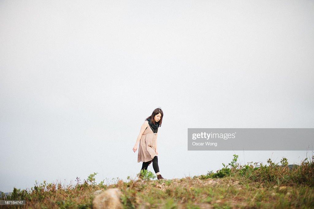 Walking on a mountain : Stock Photo